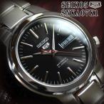 ショッピングセイコー セイコー5 海外モデル 逆輸入 SEIKO5 腕時計 メンズ ブラック文字盤 ステンレスベルト SNKA07K1 サイズ調整無料 在庫終わり次第終了