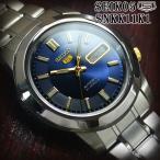 セイコー5 海外モデル 逆輸入 SEIKO5 腕時計 メンズ ネイビー ブルー文字盤 ステンレスベルト SNKK11K1 サイズ調整無料