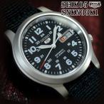 セイコー5 海外モデル 逆輸入 SEIKO5 腕時計 メンズ ブラック文字盤 ナイロンベルト SNKN33K1