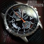セイコー 海外モデル 逆輸入 クロノグラフ SEIKO 腕時計 メンズ ブラウン文字盤 ブラックナイロンベルト SNN079P2
