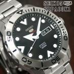 セイコー5 スポーツ ダイバーズ 海外モデル 逆輸入 自動巻き SEIKO5 腕時計 メンズ ブラック文字盤 ステンレスベルト SRPA03K1 サイズ調整無料