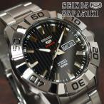セイコー5 スポーツ ダイバーズ 海外モデル 逆輸入 自動巻き SEIKO5 腕時計 メンズ ブラック文字盤 ステンレスベルト SRPA51K1 サイズ調整無料