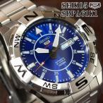 セイコー5 スポーツ アウトドア 海外モデル 逆輸入 自動巻き SEIKO5 腕時計 メンズ ブルー文字盤 ステンレスベルト SRPA61K1 サイズ調整無料