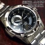 セイコー ロード 逆輸入 海外モデル SEIKO LORD 自動巻き 腕時計 メンズ ブラック文字盤 ステンレスベルト SSA219K1 サイズ調整無料