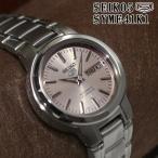 セイコー5 海外モデル 逆輸入 SEIKO5 自動巻き レディース 腕時計 シャンパンピンク シルバー文字盤 ステンレスベルト SYME41K1 サイズ調整無料