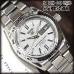 セイコー5 海外モデル 逆輸入 SEIKO5 自動巻き レディース 腕時計 ホワイト文字盤 ステンレスベルト SYMG35K1 サイズ調整無料