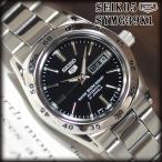 セイコー5 海外モデル 逆輸入 SEIKO5 自動巻き レディース 腕時計 ブラック文字盤 ステンレスベルト SYMG39K1 サイズ調整無料 在庫終わり次第終了