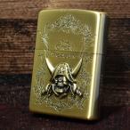 ジッポー ZIPPO ライター 限定モデル 海賊モチーフ 両面加工 真鍮古美 ブラス ゴールド 2ZT-GT/BA オイル小缶1本付き