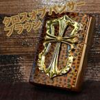 ジッポー ZIPPO ライター 流通限定 クロスオブパンサー ヒョウ柄 ブラウン ゴールドメタル オイル小缶1本付き