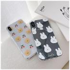 くま&うさぎ 韓国 iphoneケース クリアiPhoneケース アイフォンケース iphone11ケース スマホケース クリアケース 可愛い 人気 個性的 韓国ケース ペア