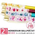 ハーバリウムボールペンキット ハーバリウムペン ハーバリウム ボールペン 替芯 花材 手作り キット セット ギフト プレゼント かわいい 送料無料 2本セット