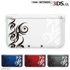 ニンテンドー new 3DS / new 3DS LL / 3DS カバー ケース トライバル2 ホワイト ブラック くも 蜘蛛 ピンク クリアデザイン メール便送料無料