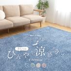 日本製 キシリトール加工 冷感 ひんやり カーペット ラグ 角型 長方形 リビング mofua cool 防ダニ・抗菌 さらっとひんやり涼感ラグ 130×185cm 5色対応