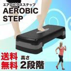 エアロビクスステップ RIORES リオレス 踏み台昇降運動 踏み台 ダイエットステップ  ステッパー コンパクト 2段階 10cm/15cm フィットネス 在宅 送料無料