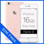 iPhone 6s Rose Gold 16GB SIMフリー (ロック解除済) ランクB Apple 3A503J/A 本体 中古 スマホ 白ロム