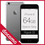iPhone 6 Space Gray 64GB docomo (ドコモ) ランクB Apple A1586 MG4F2J/A 本体 中古 スマホ 白ロム