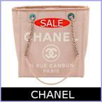 シャネル CHANEL バッグ トートバッグ キャンバス ドーヴィルライン ピンク A66939
