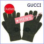 グッチ GUCCI 手袋 メンズ グローブ グレー サイズL 287709 アウトレット