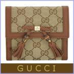 ショッピングGUCCI グッチ 財布 二つ折り財布 GGキャンバス リボン レディース アウトレット 269984