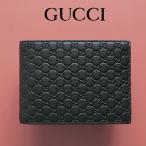 グッチ GUCCI 財布 メンズ 二つ折り財布 グッチシマ 黒/ブラック パスケース付き アウトレット 367287