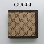 グッチ GUCCI メンズ 財布 二つ折り財布 GGキャンバス アウトレット 150413