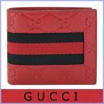 グッチ GUCCI 財布 メンズ 二つ折り財布 グッチシマ レッド/赤 アウトレット 408826
