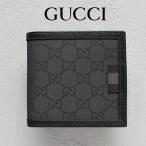 グッチ GUCCI メンズ 財布 二つ折り財布 GGナイロン 黒/ブラック アウトレット 150413