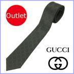 グッチ GUCCI ネクタイ メンズ 黒/ブラック GG柄 アウトレット 408865