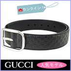 グッチ GUCCI ベルト メンズ グッチシマ 黒/ブラック アウトレット 449716