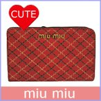 ショッピング ミュウミュウ miumiu 財布 レディース コンパクト財布 アウトレット 5ML013