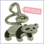 ショッピングPRADA プラダ PRADA キーホルダー キーリング チャーム 限定コレクション パンダ 1PS434 アウトレット