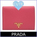 プラダ PRADA 財布 二つ折り財布 ピンク 1MV204 アウトレット