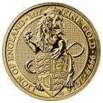 2016 イギリス 1オンス The Queen's Beasts 100ポンド金貨 ライオン・オブ・イングランド GEM BU