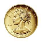 2017年 アメリカ造幣局225周年記念金貨 100ドル金貨 オリジナルケース付