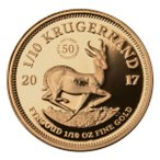 2017 南アフリカ 1/10オンス クルーガーランドプルーフ金貨 GEM Proof (オリジナルパッケージ付き)