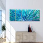 Blue Aurora アートパネル インテリアアート (モダンアート、壁掛けアート、メタルアート)