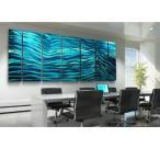 Aqua Blue Wave II XL 応接用セット メタル インテリアアート 和みの空間演出(パネル デザイン)