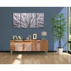 モダン家具 Silver Flourish III (インテリアパネル モダン彫刻アート メタル抽象 オフィスデコ 北欧 カフェ cafe)