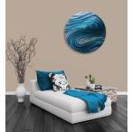 送料無料!! インテリアアート Aurora Stream Aqua(インテリアパネル モダン彫刻アート メタル抽象 オフィスデコ 北欧 カフェ cafe)