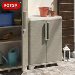 ケター ウッドグレー ベース KETER  低い 小さい ケーター キャビネット 物置 収納庫 ストッカー ガーデニング