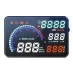 ・フロントガラスに速度計/回転計/水温計/時計/燃費等を投射表示。視線移動が減り、見慣れた車窓風景が...