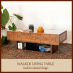 WALKER 木製 コーヒーテーブル ソファテーブル