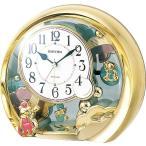 【取り寄せ品】リズム時計 置き時計 ファンタジーランド504SR 4SE504SR18 飾り振子付 金色