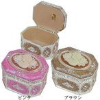 カメオミニオルゴールボックス♪Let It Go★8角形のミニオルゴールボックス★G-1014PA ピンク/G-1014BA ブラウン