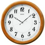 送料無料★訳あり特価! セイコー ラ・クロック掛時計 電波時計 木枠(アルダー薄茶木地塗装) 球面ガラス KX416A