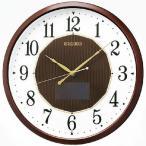 セイコー ハイブリッドソーラー電波掛時計(茶) SF241B
