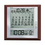 セイコー マンスリーカレンダー付き電波時計 温度 湿度表示付き 掛置兼用  SQ421B