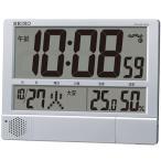 送料無料★セイコークロック 掛け置き兼用デジタル電波時計 温度表示 湿度表示 大型 プログラム機能 SQ434S