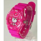 CITIZEN Q&Q 腕時計 Hello Kitty (ハローキティ) ダイバー アナログ表示 10気圧防水 ピンク VQ75-430 レディース