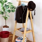 ショッピングコート 木製 ハンガーラック カシア キッズ CASIA KIDS 棚付き 2段 クローゼット 衣類 服 収納 室内